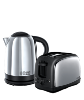 Find out more 21830 Lincoln Twin Pack - Polished Kettle and 2 Slice Toaster