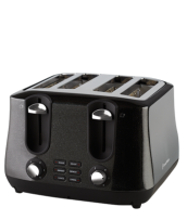 Find out more about the RHT44BLK Siena 4 Slice Toaster - Black Diamonds