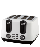 Find out more about the RHT44WHI Siena 4 Slice Toaster - White Diamonds