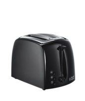 Find out more 21641 Textures Toaster Black - 2 Slice