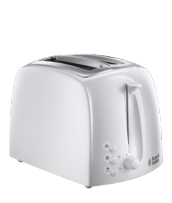 Find out more 21640 Textures Toaster White - 2 Slice