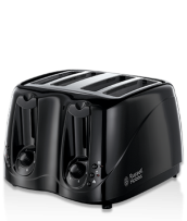 Find out more 14340 Black 4 Slice Compact Toaster
