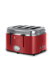 Find out more 21690 Retro Red 4 Slice Toaster