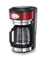 Mehr 21700-56 Retro Ribbon Red Glas-Kaffeemaschine