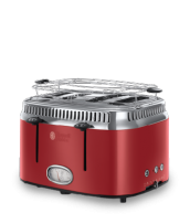 Mehr 21690-56 Retro Ribbon Red 4-Schlitz-Toaster
