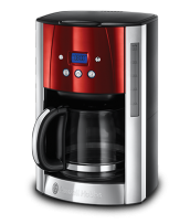 Mehr 23240-56 Luna Solar Red Digitale Glas-Kaffeemaschine