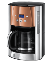 Mehr 24320-56 Luna Copper Accents Digitale Glas-Kaffeemaschine