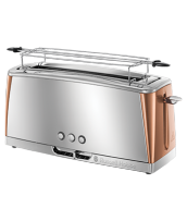 Find out more 24310-56 Luna Copper Accents 2 Slice Long Slot Toaster